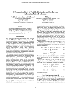 A Comparative Study of Variable Elimination and Arc Reversal in
