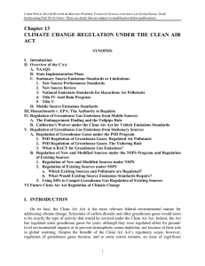 Chapter 13 - Clean Air Act