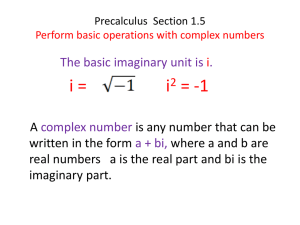 1.5Precalculus Section 1.5