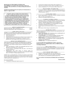 Prescribing Information including Medication Guide
