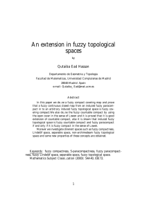 An extension in fuzzy topological spaces