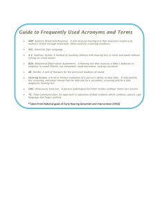 Guide to Frequently Used Acronyms and Terms