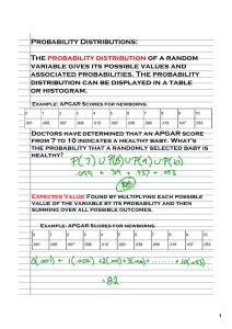 Probability Distributions: The probability distribution of a random