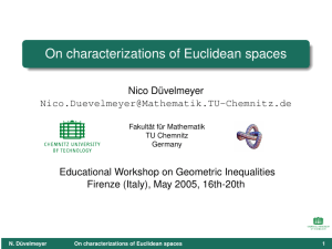 On characterizations of Euclidean spaces