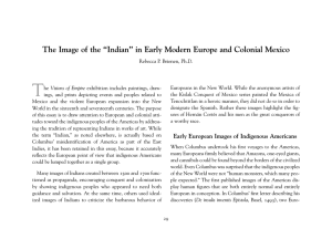 "The Image of the ""Indian"" in Early Modern"