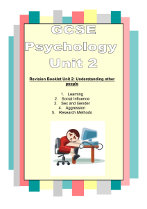 Unit Two Revision Booklet