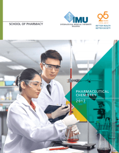 Pharmaceutical Chemistry - International Medical University