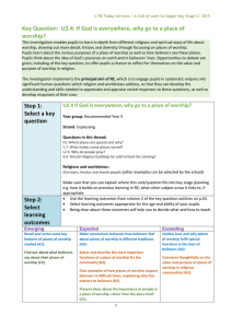 RE Blank Unit Planner 2015 - Crossacres Primary School