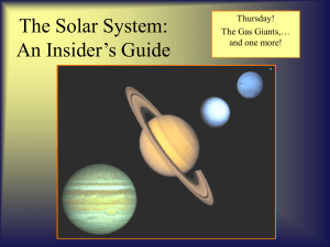 The Solar System: An Insider`s Guide