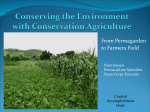 Conserving the Environment with Conservation Agriculture