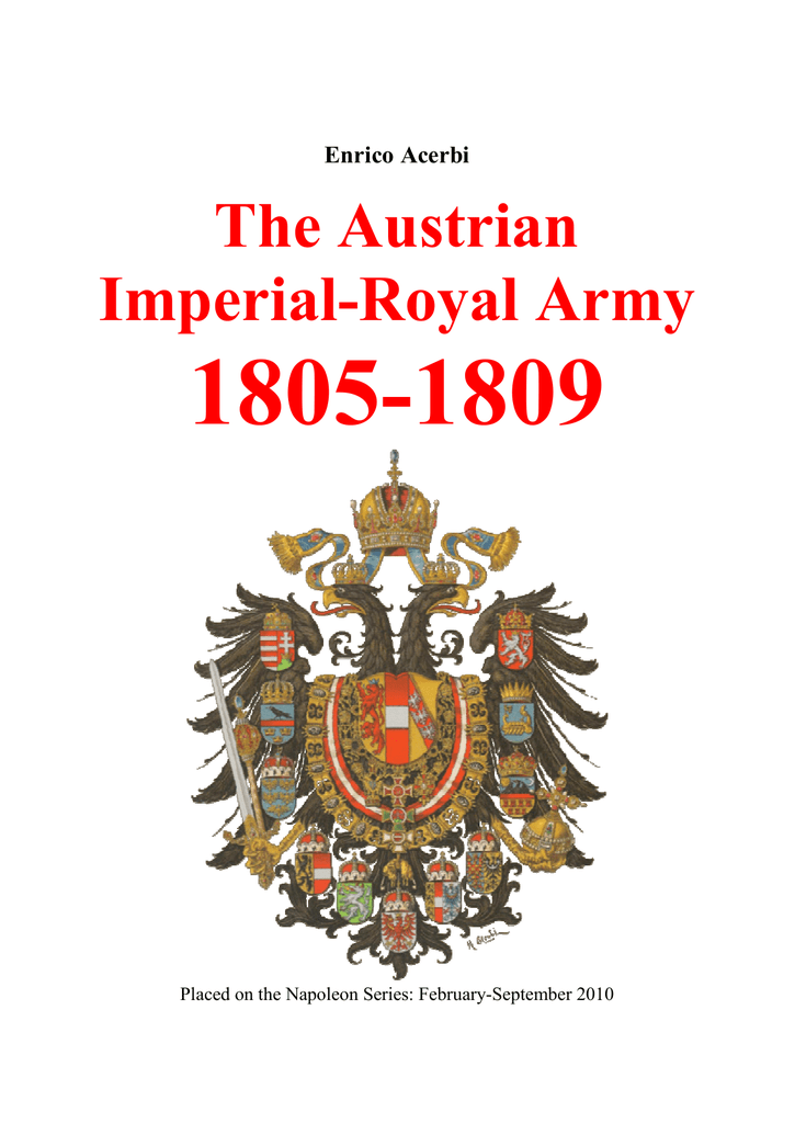 The Austrian Imperial-Royal Army