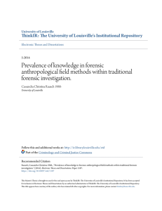 Prevalence of knowledge in forensic anthropological field