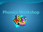 Phonics Workshop 1 - Worlingham Primary School