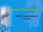 Bowel Elimination Scientific knowledge base