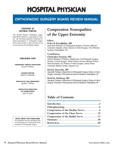 Compression Neuropathies of the Upper Extremity