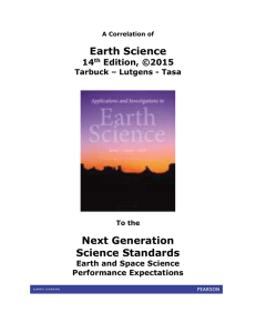 A Correlation of Earth Science, 14th Edition, ©2015 to the Next