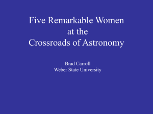Five Women at the Crossroads of Astronomy - Physics