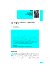 The Public and Private in C. Wright Mills`s Life and Work