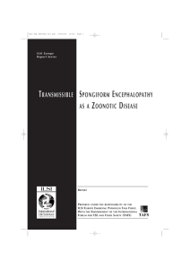 Transmissible Spongiform Encephalopathy as a Zoonotic Disease