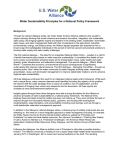 Water Sustainability Principles for a National