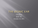 The bionic ear