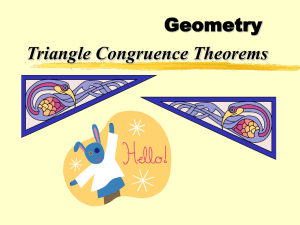 Geometry Triangle Congruence Theorems