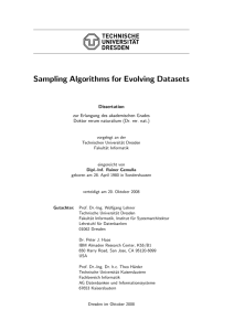 Sampling Algorithms for Evolving Datasets