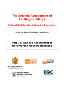 Sector Briefing Draft - The Seismic Assessment of Existing Buildings