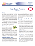 High Blood Pressure - The University of Arizona Extension