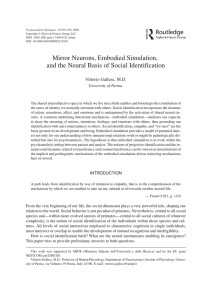 Mirror Neurons, Embodied Simulation, and the Neural Basis of