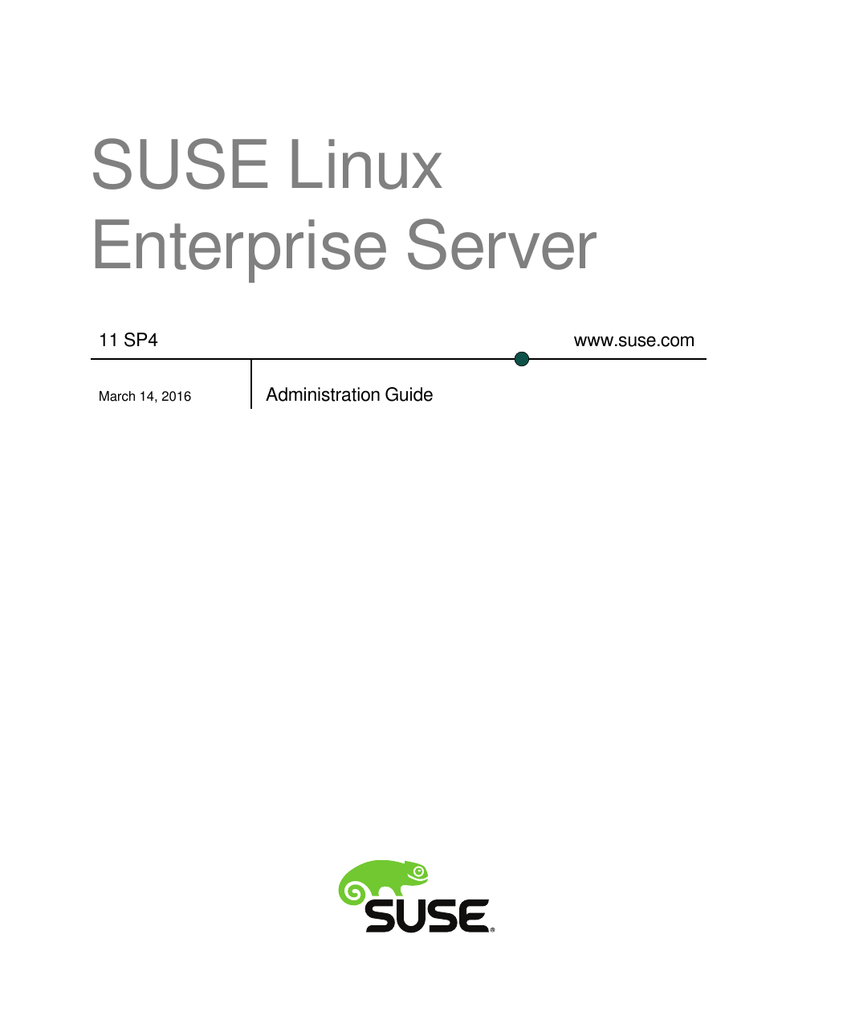 SUSE Linux Enterprise Server Documentation
