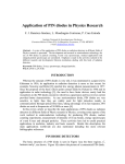 Application of PIN diodes in Physics Research