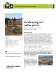 Landscaping with native plants - College of Agricultural and Life