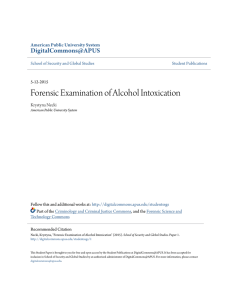 Forensic Examination of Alcohol Intoxication
