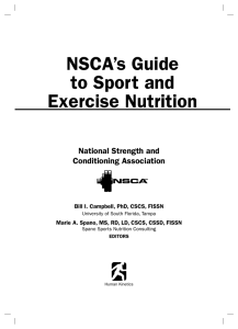 NSCA`s Guide to Sport and Exercise Nutrition
