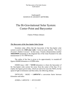 The BI-Gravitational Solar System: Center-Point
