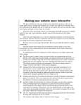 June 10, 2013 - Making Your Website More Interactive