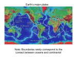 1: The earth is divided into continents and oceans