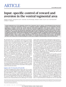 Input-specific control of reward and aversion in the ventral tegmental