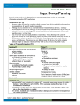Input Device Planning doc