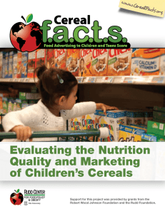 Evaluating the Nutrition Quality and Marketing of