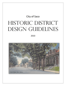HISTORIC DISTRICT DESIGN GuIDELINES