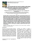 Environmental and social studies education: A collaborative