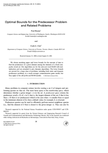 Optimal Bounds for the Predecessor Problem and