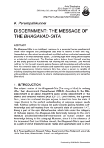 discernment: the message of the bhagavad-gita