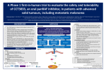 A Phase 1 first-in-human trial to evaluate the safety