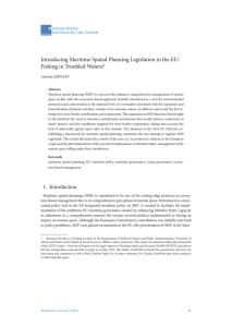 Introducing Maritime Spatial Planning Legislation in the EU: Fishing