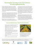 Increasing Biodiversity - California Climate and Agriculture Network