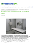 Radiation Dose Levels between CR, DR and Film Screen