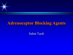 Adrenoceptor Blocking Agents